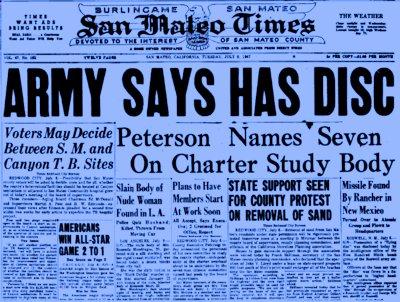 Image: Roswell Headline 1947