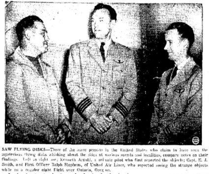 Kenneth Arnold, E.J. Smith, Ralph Stephens
