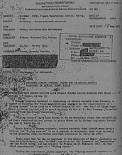 CIA Memo