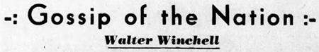 Walter Winchell banner