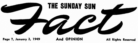 Sunday Sun Facts and Opinion header