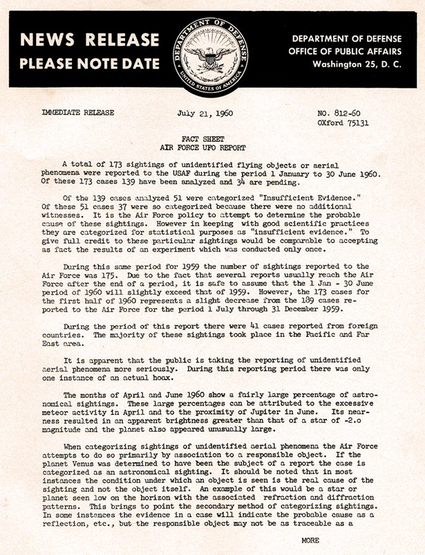 AF Fact Sheet July 1960