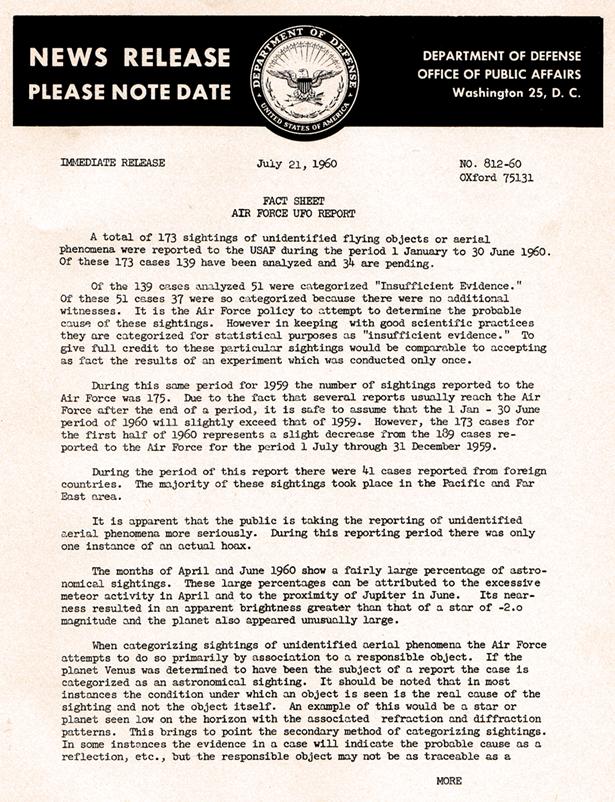 AF Fact Sheet July 1960