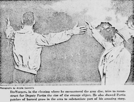Sonny DesVergers and Sheriff Mott Partin